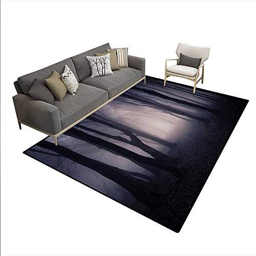 Floor Mat,Path Through Dark Deep in Forest with