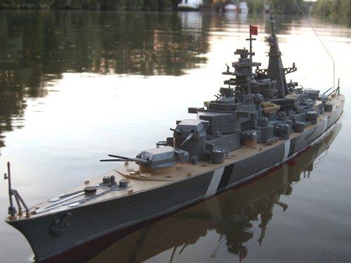 RC Schiff, Ferngesteuert, Bismarck Schlachtschiff, RC Boot, RTR, Komplettset