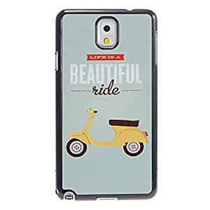 SHERRYLEE Beautiful Ride Pattern Aluminum&Plastic Hard Back Case Cover for Samsung Galaxy Note3 N9000