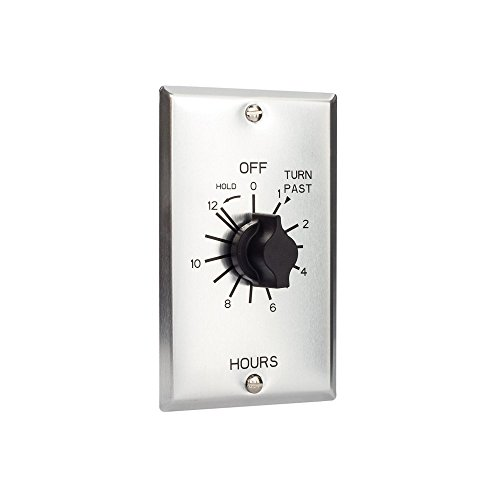 TORK a brand of NSi Industries, LLC C Series Commercial Style Sringwound Auto Off In-Wall Time Switch with Hold, 12 Hours Timer Length, SPST Switch Type - C512HH