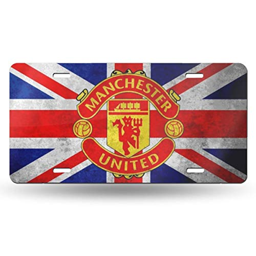 Manchester United License Plate - MMHOME Manchester United Flag Custom License Plate Emblem Metal Version Car Accessories Metal License Plate 3D Print License Plate