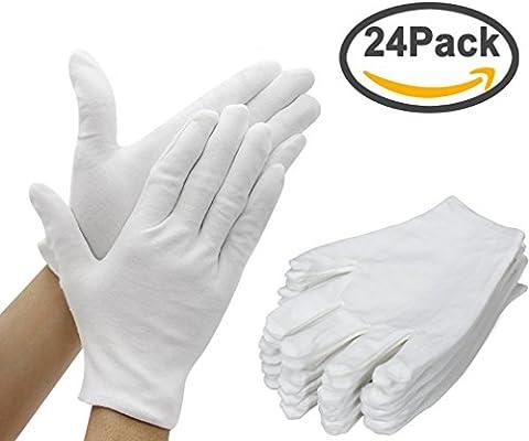 Cotton Gloves, EONANT 12 Pares de Guantes Blancos de Algodón 8.6