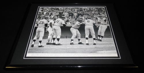 Grand Slam Framed Photo - Jim Northrup 1968 World Series Grand Slam Framed 11x14 Photo Display Tigers