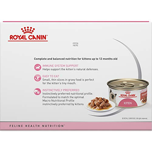 Royal Canin Feline Health Nutrition Kitten Canned Cat Food, 3 Ounce Cans 3