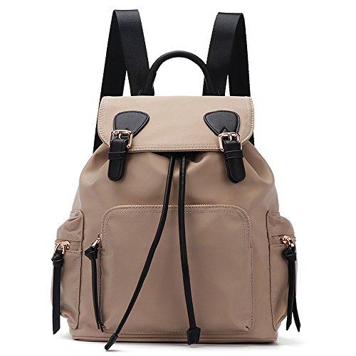 1d1f2cf5e19 Gerosse Fashion Nylon Backpack Purse Travel for Women, Designer School  Backpacks Waterproof Bookbags (Khaki)