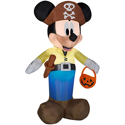 Halloween Decoration Airblown Inflatable Mickey as Pirate Haunted House Indoor Outdoor Yard Decor ()