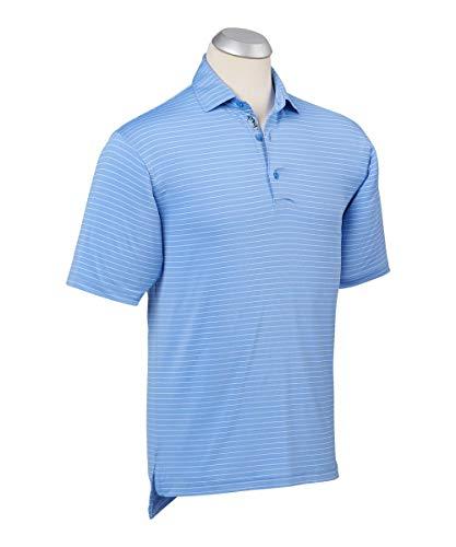 - Bobby Jones Short Sleve XH2O Jersey Line Stripe - Sky Blue/White