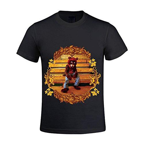 kanye-west-the-college-dropout-men-t-shirts-crew-neck-100-cotton-black