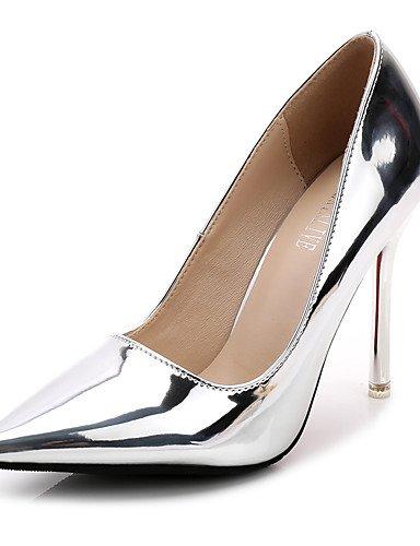 GGX  Damen-Cloggs &  Pantoletten-Kleid-Kunstleder-Stöckelabsatz-Absätze  &  Spitzschuh   Geschlossene Zehe-Silber   Gold dfd722