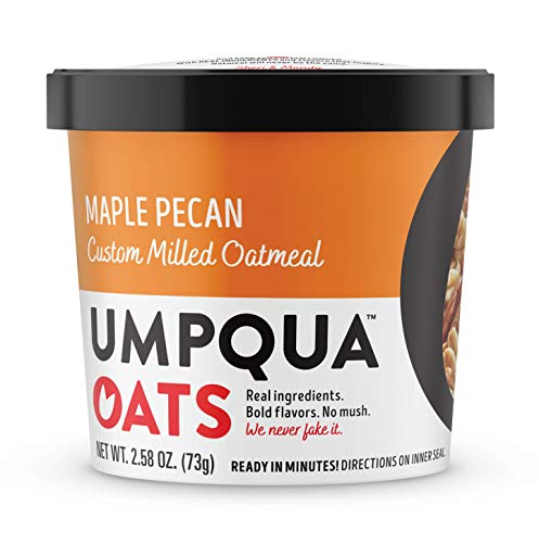 Umpqua Oats All Natural Oatmeal Cups, Maple Pecan Cup, 8 Count (PACKAGING MAY VARY)