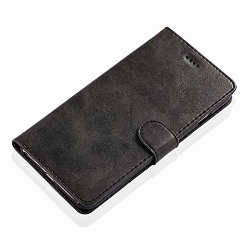 Leather Flip Case for iPhone 6 s 7 8 Plus iPhone x XS Max XR Wallet Cover iPhone 6s Case with Card Holder Phone Bag,Black,for iPhone 6