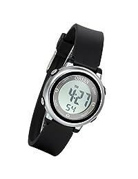 Lancardo Boy's Girl's 50M Waterproof Multi Function Digital Led Traning Sports Outdoor Watch(Black)