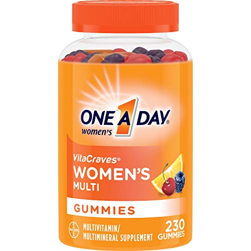 One A Day Women's VitaCraves Multivitamin Gummies, Supplement with Vitamins A, C, E, B6, B12, Calcium, and Vitamin D, 230 Count