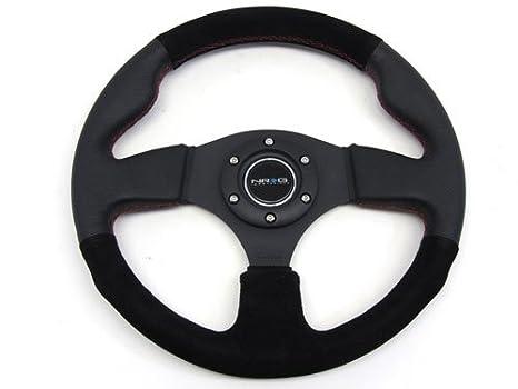 Red Wood Chrome Aluminum Center Deep Dish Steering Wheel Hub For 96-15 Civic