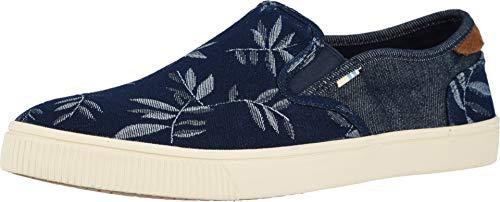 TOMS Men's Baja Slip-On Shoes, Size: 9.5 D(M) US, Color: Navy Leaf Denim