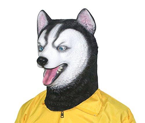 xihazu Novelty Husky Dog Mask ,Animal Head Masks Halloween Party Cosplay Costume Decorations, Latex Animal Head, Halloween mask ... -