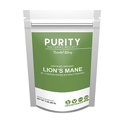 Cheap Certified Organic Lions Mane Mushroom – Large 3OZ Bag (42 Servings) – Brain Supplement Powder with Pleasantly Mild Taste and Mixes Easily in Coffee – Increase Energy & Focus, Improve Memory, Clear Fog