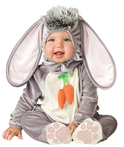 Lil Characters Unisex-baby Newborn Infant Rabbit Costume, Grey/White/Pink, -