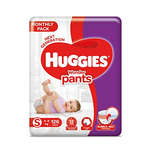 Huggies Wonder Pants Diapers Small Size Monthly Pack 126 Pieces at best price