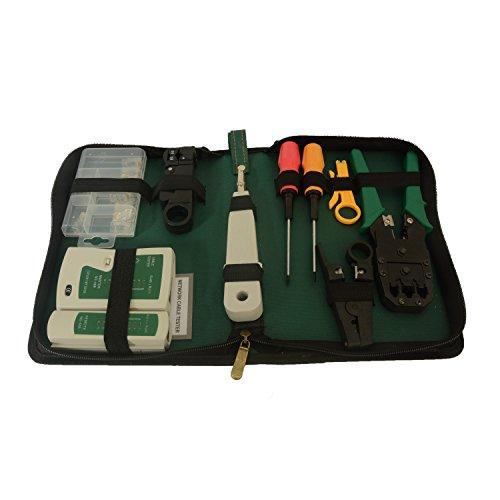 Crimper Set (Xgunion 9pcs Rj45 Rj11 Cat5 LAN Network Tool Kit Crimper Stripper Cable Tester)
