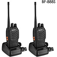 BaoFeng BF-888S Walkie Talkies 16 Channels Long Range VHF/UHF 400-470MHZ Two Way Radio FM Transceiver Set( 2 Pack)