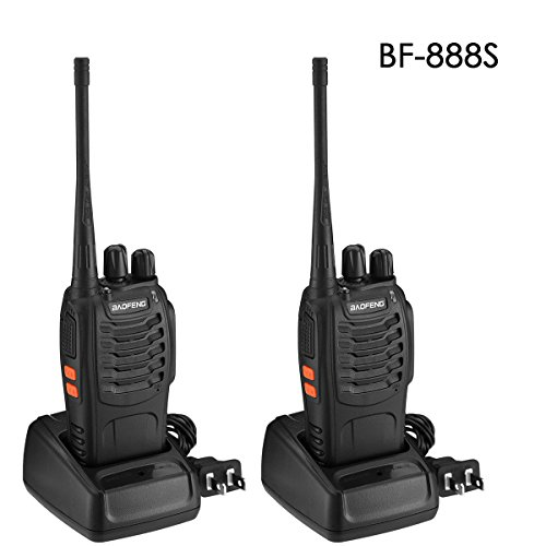 BaoFeng BF-888S Walkie Talkies Two Way Radio 16 Channels FRS Long Range UHF 400-470MHZ with Desktop Charger( 2 (Halloween Background Desktop)