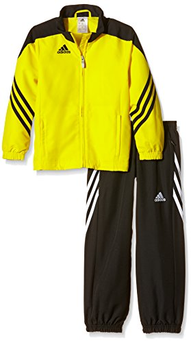 adidas Boys Tracksuit Woven Sereno14 Boys Presentation Football Training Suit Yellow/Black 7-15 Years F49683 (164cm (XL Youth))