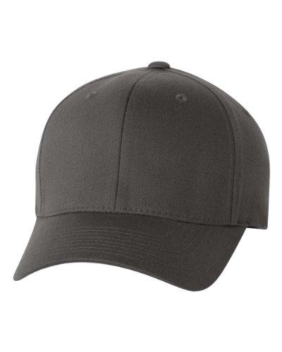 Flexfit Unisex Wooly Combed Twill Cap - 6277 (Dark Gray, Large/X-Large)
