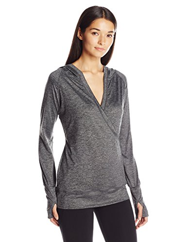 MSP by Miraclesuit Women's Hooded Top, Charcoal Heather, XL