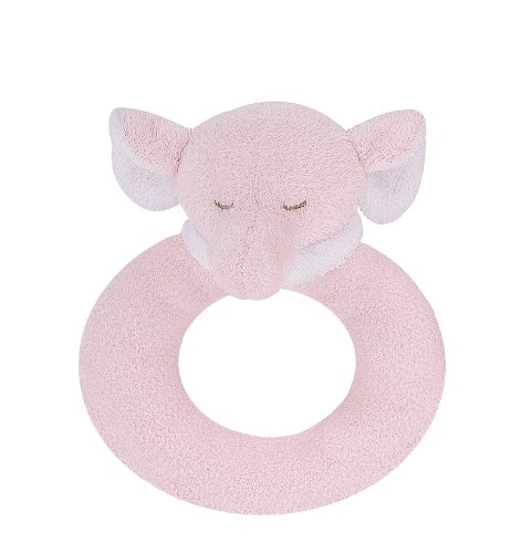 Angel Dear Ring Rattle, Pink Elephant