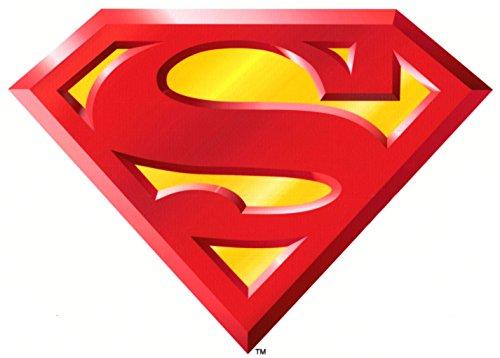 - Superman Logo Birthday Edible Frosting Image 3