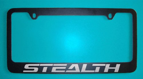 Dodge Stealth Black License Plate Frame (Zinc Metal)