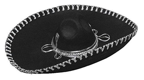 Sombrero Oversized Brim (Black Oversized Sombrero Hat)