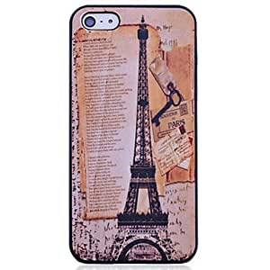 RC - Vintage The Eiffel Tower Pattern Polycarbonate Back Case for iPhone 5/5S