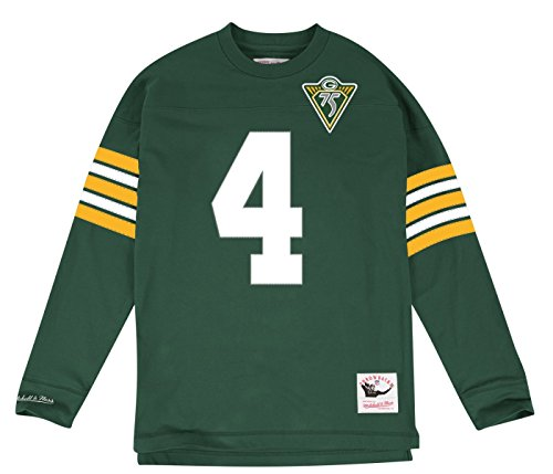 Green Bay Packers Brett Favre NFL Mitchell & Ness Jersey Inspired Knit Top Men's (Large)