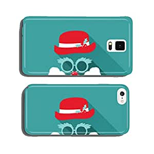 Christmas Retro Santa Card - in vector cell phone cover case iPhone5