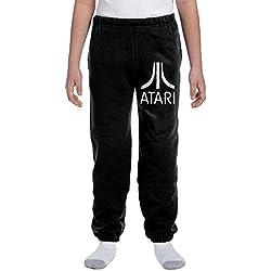 Atari Adult Regular Youth Basics Fleece Pocketed Sweatpants Black