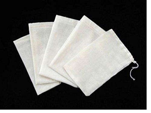 (100 PCS 4x6 Cotton Muslin Drawstring Reusable Bags Packing Bath Soap Herbs Tea)
