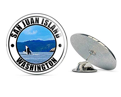 NYC Jewelers Round SAN Juan Island Washington (wa rv Travel Resort) Metal 0.75