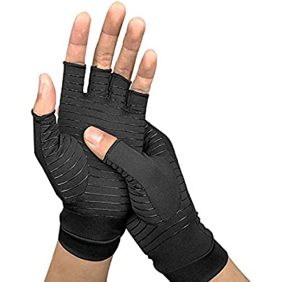 Copper Compression Arthritis Gloves Carpal Tunnel Computer Typing And Everyday Support For Hands Health Wristband For Women Men Estimated Price £13.07 -
