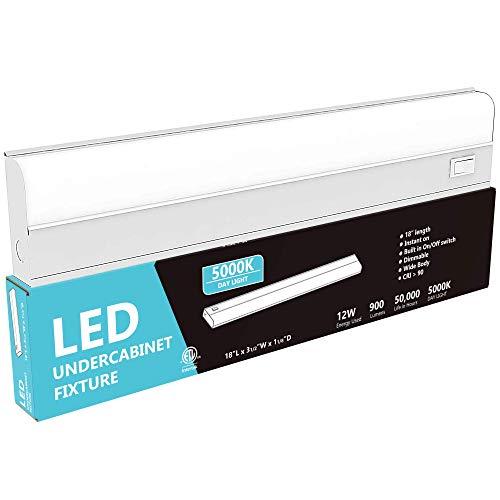 Hardwired LED Under Cabinet Task Lighting – 12 Watt, 18
