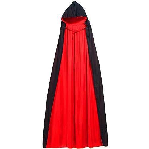 Huntvp Christmas Halloween Party Hooded Cape Cloak Bloodsucker Reversible Costume -