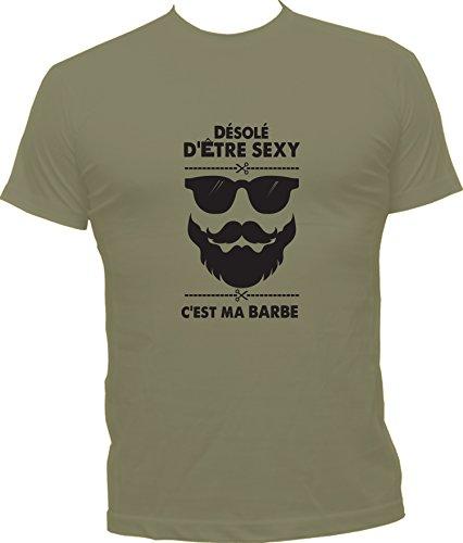 Boutique KKO - Camiseta - Cuello redondo - para hombre caqui