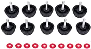 10 Pcs Spinning Reel Handle Screw Cap Bearing Cover Durable Screw Caps Covers with Gaskets Replacement for Fsh