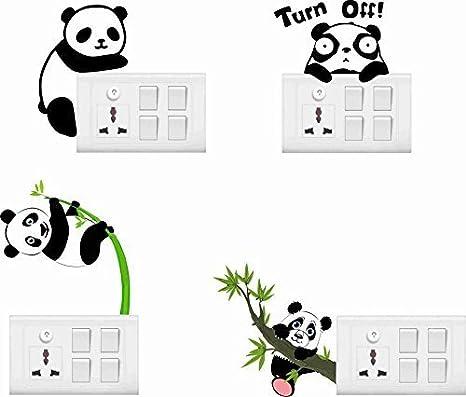 24321f8ba06e Buy Creatick Studio Cute Baby Panda Wall Sticker Standard PVC Vinyl ...