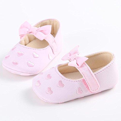5e8a84aa14ba72 Hunpta Baby Mädchen Bogen-Knoten Canvas Schuhe Sneaker rutschfest weiche  Sohle Schuhe (Alter  ...