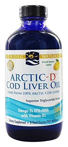 Nordic Naturals CLO, Arctic-D Lemon, 8-Ounce Rtl, 0.88 Bottl