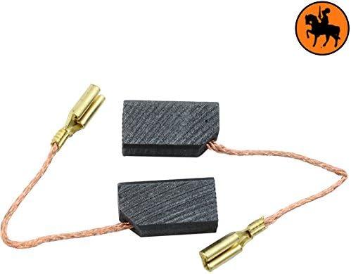 Remplace les pi/èces dorigine 935091 Balais de Charbon Buildalot Specialty ca-03-43173 pour Black /& Decker P5501-6x8,15x15mm cable et connecteur Avec ressort
