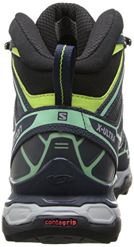 Salomon X Ultra Mid 2 GTX - Zapatillas de senderismo Hombre Gris (Grey Denim /     Deep Blue /     Lucite Green)