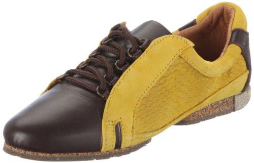 Stork Steps SAMANTHA 1796765 Damen Sneaker Gelb (Iceberg/Kid Suede/Snake/Dark brown/Yellow/Yellow 056)